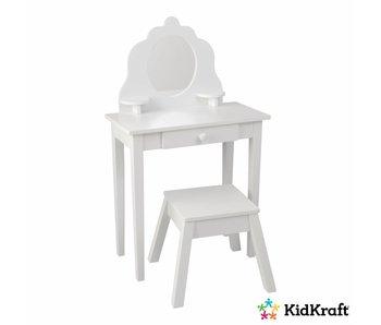 KidKraft Kaptafel met krukje Medium - wit