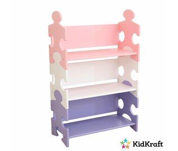 KidKraft Boekenkast puzzel - pastelkleurig