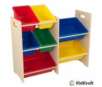 KidKraft Opbergrek 7-delig - primaire kleuren en naturel