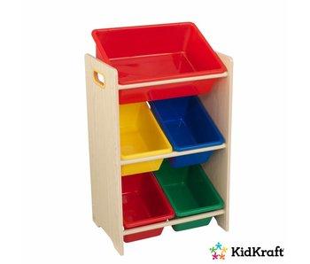 KidKraft Opbergrek 5-delig - primaire kleuren en naturel