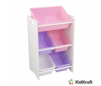 KidKraft Opbergrek 5-delig - pastelkleurig en wit