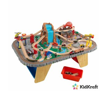 KidKraft Houten treinset met tafel Waterfall Junction
