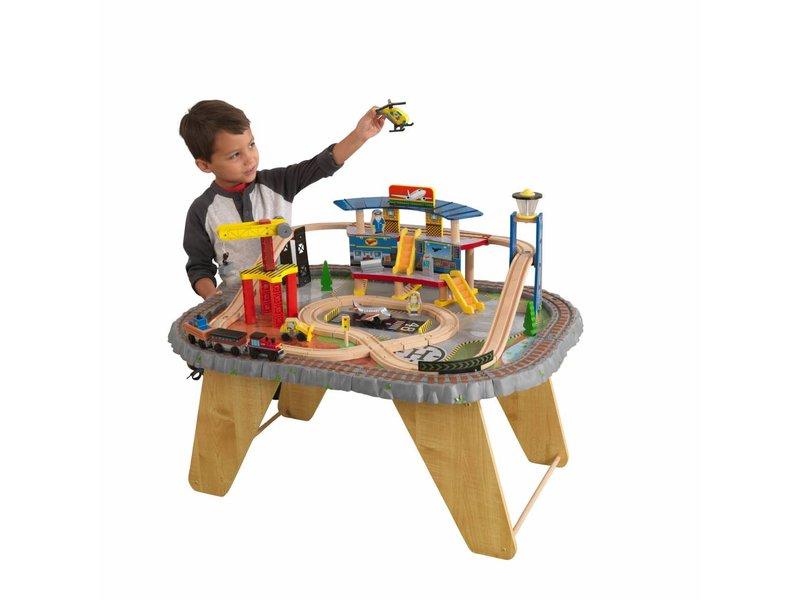 KidKraft Transportation Station houten treinset met tafel