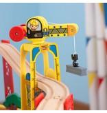 KidKraft Houten treinset met tafel City Explorer