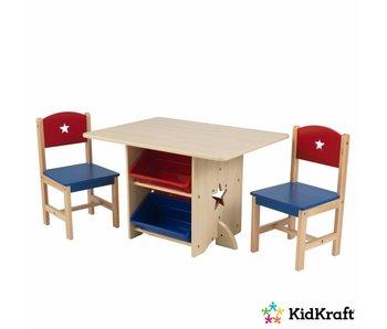 KidKraft Tafel- en stoelenset Sterren