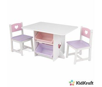 KidKraft Tafel- en stoelenset Hartjes