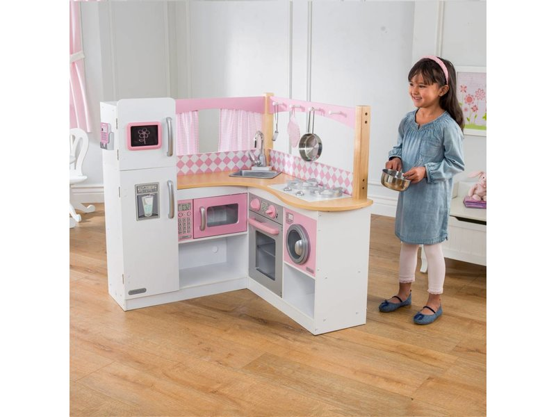 KidKraft Houten hoek-kinderkeuken Grand Gourmet