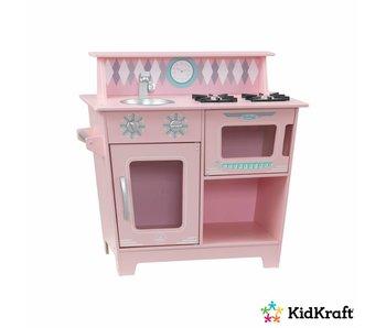 KidKraft Klassieke kleine houten speel kitchenette - roze