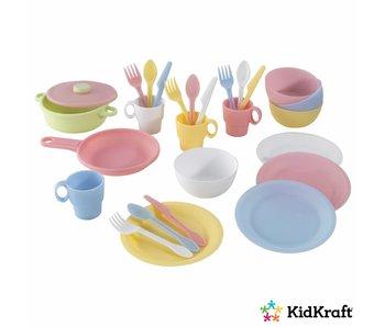 KidKraft Speelgoed keukenset 27-delig - pastelkleurige