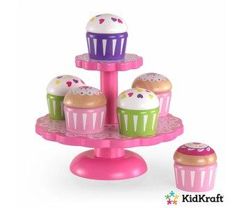 KidKraft Houten cupcake-standaard met cupcakes