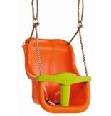 Babyzitje 'luxe' oranje/limoen groen
