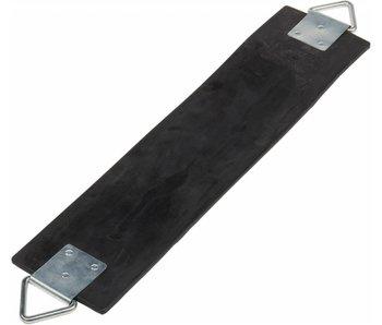 Soepel schommelzitje in rubber - zwart