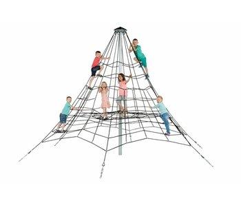 Piramidenet in gewapend touw - 3.5 m - zwart/gegalvaniseerd/zwart