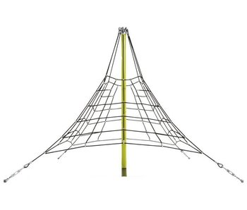 Piramidenet in gewapend touw - 2.7 m - zwart/limoen groen