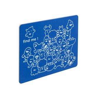 HDPE speelpaneel 'vind mij' - blauw