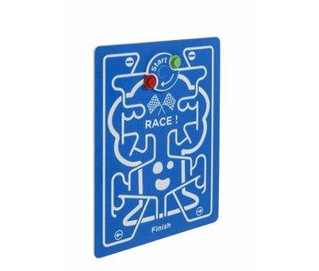 HDPE speelpaneel 'race!' - blauw - blauw