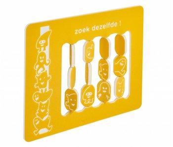 HDPE speelpaneel 'zoek dezelfde' - geel