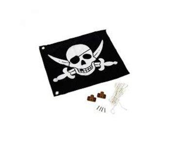 Vlag incl. hijssysteem Piraat