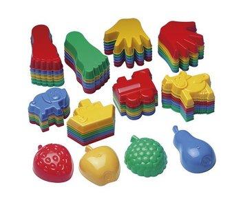 Educo Zandvormen allerlei, Boot, trein en dieren 32 stuks 57941