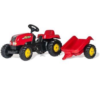 Rolly toys rollyKid-X met aanhanger rood