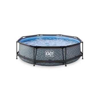 EXIT Stone zwembad ø300x76cm met filterpomp