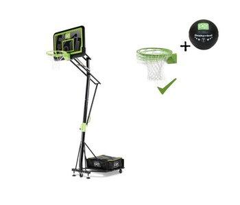 EXIT Galaxy verplaatsbaar basketbalbord op wielen met dunkring - black edition
