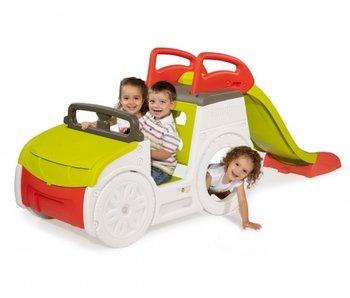 Smoby adventure speelhuis auto met glijbaan en zanbak