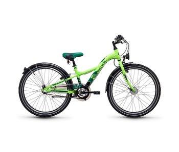 S'COOL XXlite steel 3-S 24 inch jongensfiets neon groen