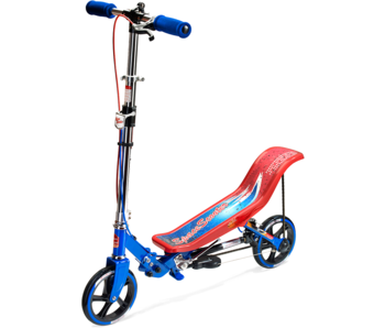 Space Scooter space scooter Blauw Rood + bescherm set