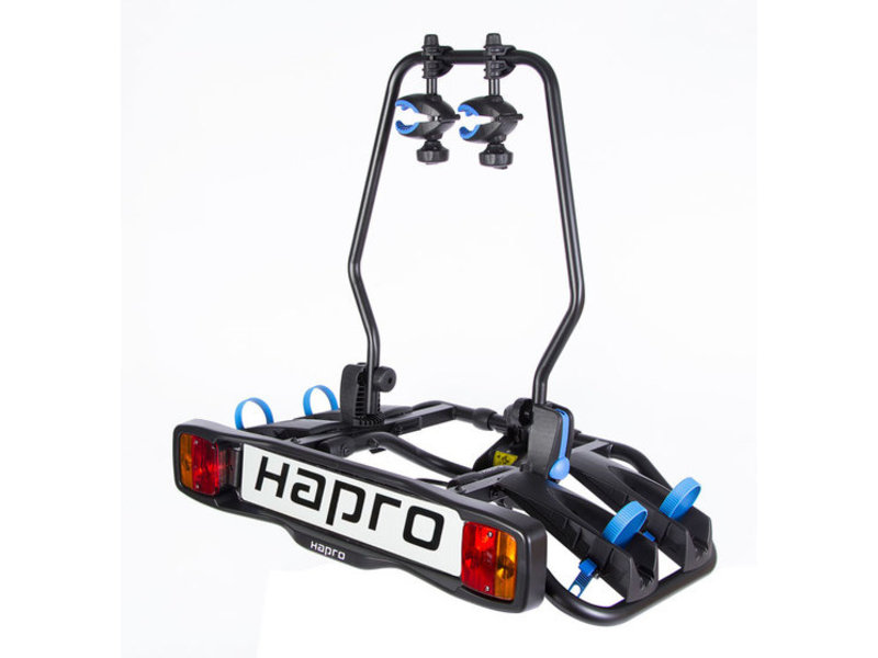 Fietsdrager Hapro Atlas Premium E-Bike 2F 7/13-polig Blauw Kantelbaar