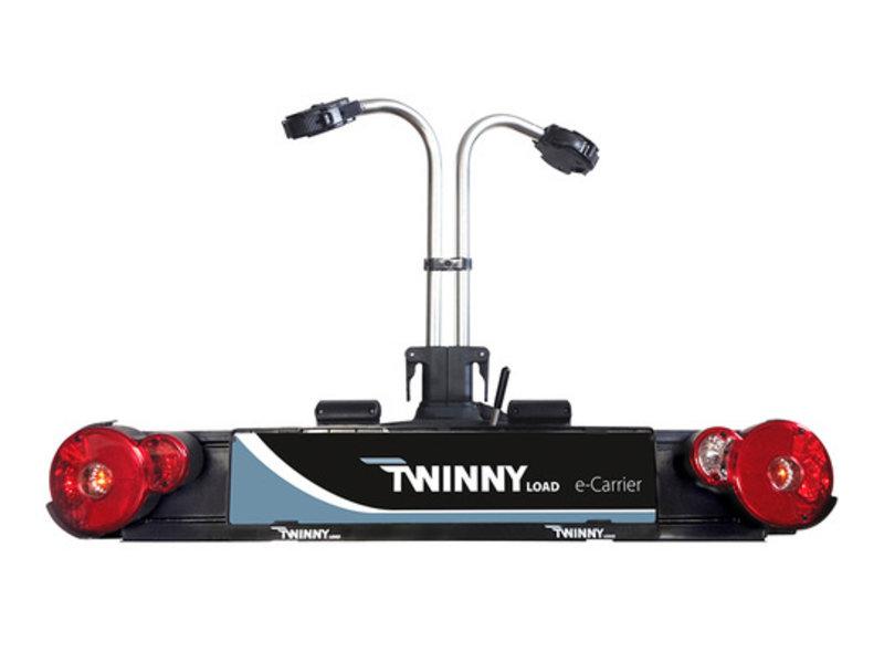 twinny Fietsdrager Twinny Load E-Carrier 2F 13-polig Zwart/Zilver Kantelbaar