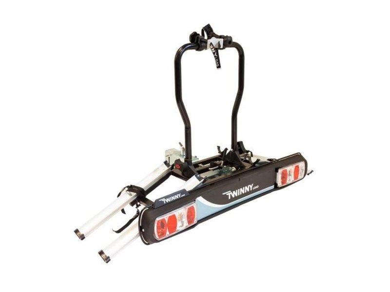 Fietsdrager Twinny Load E-Basic 2F 13-polig Zwart/Zilver Kantelbaar