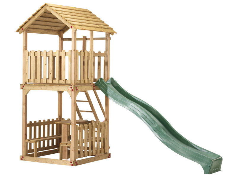 Woodvision Speelhuis Action met Picknickset