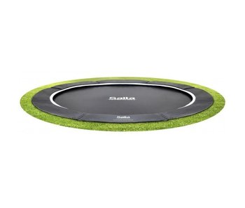 Salta Trampoline inground Royal Baseground 366 cm - antraciet zwart