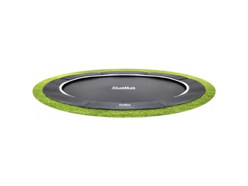 Salta Trampoline inground Royal Baseground 427 cm - antraciet zwart