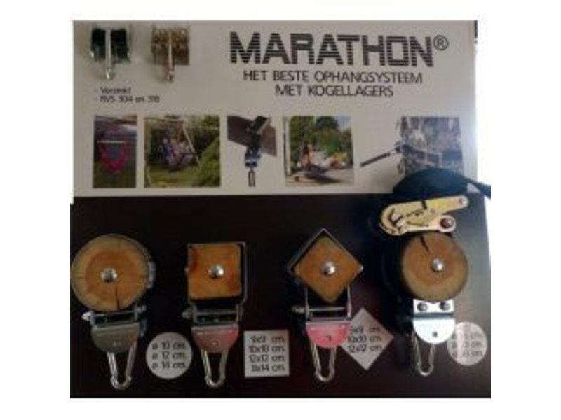 Marathon Schommelhaak rond hout 10 cm doorsnede