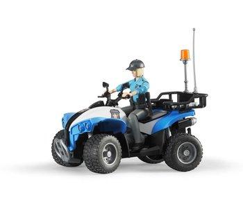 Bruder BF63010 - World politie quad met agente en accessoires