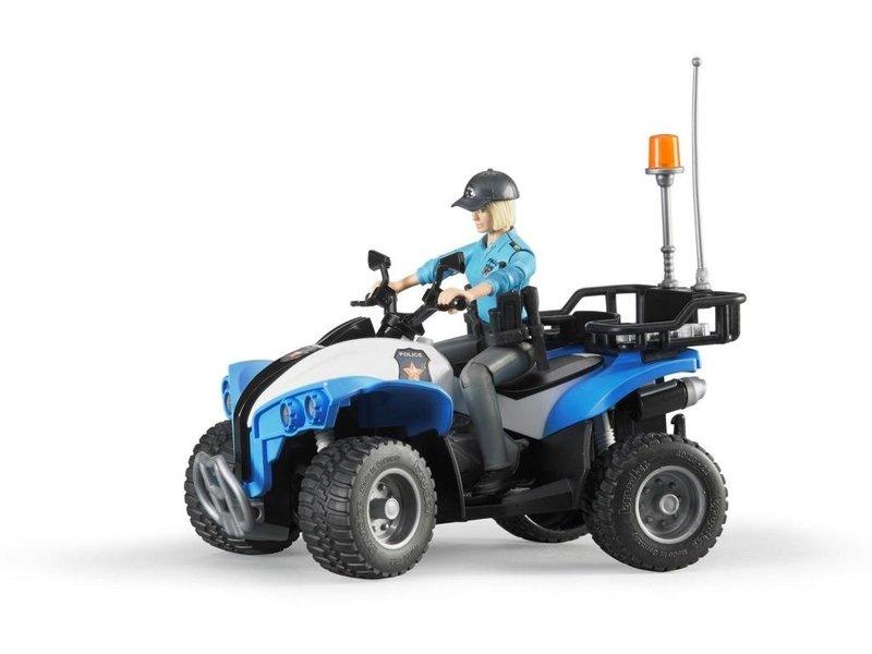 Bruder BF63010 - Bruder B World politie quad met agente en accessoires