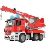 Bruder Mercedes-Benz Arocs brandweerwagen met kraan - Kraanwagen
