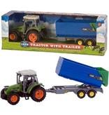 Dutch Farm Serie Dutch Farm Serie Tractor groen + Trailer 1:32
