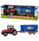 Dutch Farm Serie Tractor rood + Trailer 1:32