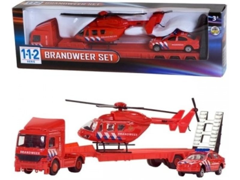 112 Serie  Brandweer Set 3 Delig