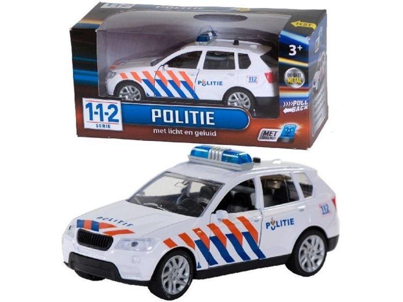 112 Serie Politieauto met licht en geluid 1:43