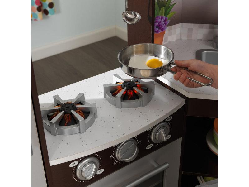 kidkraft  Ultimate Corner Play Kitchen - Espresso