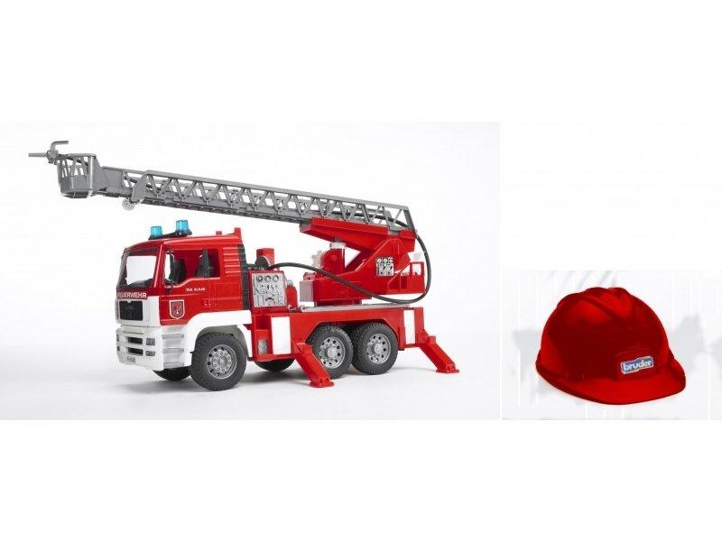 Bruder 2771 - MAN brandweer ladderwagen + Helm