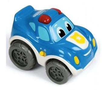 Clementoni pull-back politieauto blauw