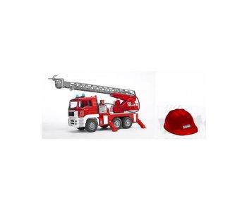 Bruder Brandweer auto met rode helm