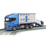 Bruder 3549 - Scania R-serie veetransport + dier