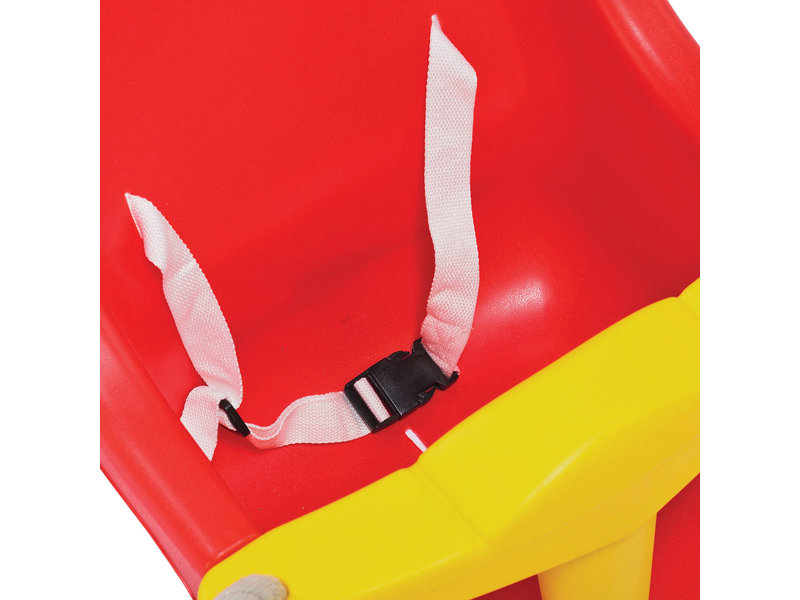 Babyzitje - 'luxe' rood/geel