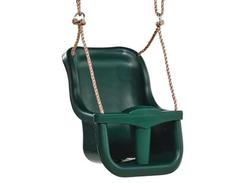 Babyzitje 'luxe' paars (RAL4006)/limoen groen